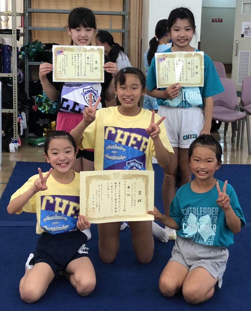 初挑戦の大会に向けて、練習中です!☆チアリーディング選手クラス FUNNIT STARS☆